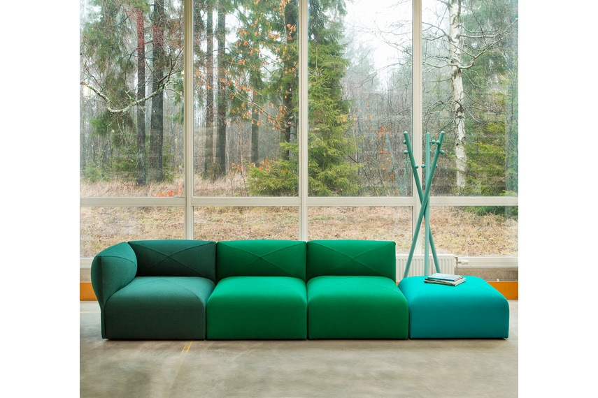 The Blob modular sofa system is made by Swedish brand, Jonas Ihreborn.